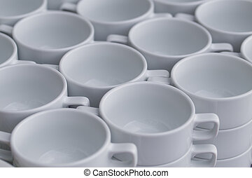Row of coffee cups