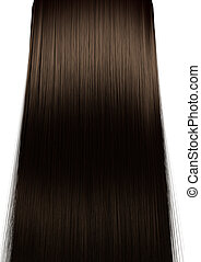 Brown Hair Perfect Straight - A perfect symmetrical view of...