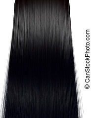 Black Hair Perfect Straight - A perfect symmetrical view of...