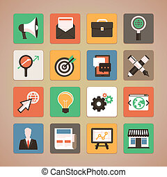 Vector flat icons - internet marketing - Vector trendy icon...