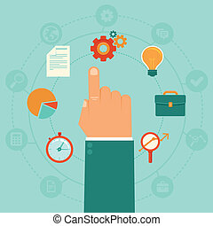 Vector concept - business management - Vector concept -...