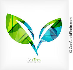 Abstract green leaf concept