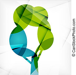 Eco Tree Abstract Shape Design. Abstract concept