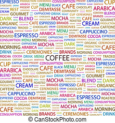 COFFEE Background concept wordcloud illustration Print...