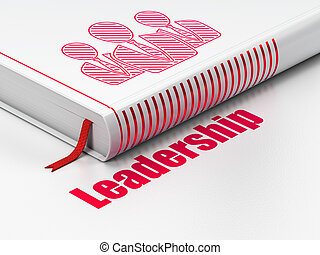 Business concept: book Business People, Leadership on white...