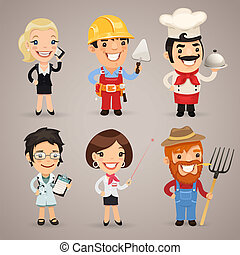 Professions Cartoon Characters Set12 In the EPS file, each...