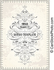 Vector Vintage Victorian Swirl Template - Easy to edit!...