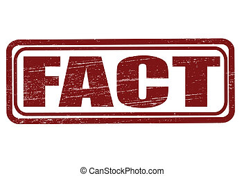 Fact - Stamp with word fact inside, vector illustration