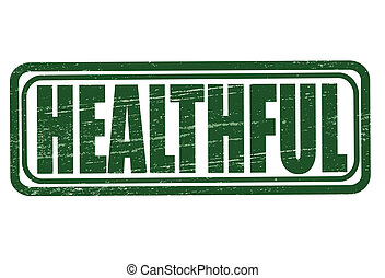 Healthful - Stamp with word healthful inside, vector...