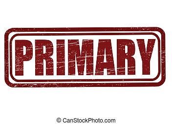 Primary - Stamp with word primary inside, vector...