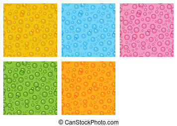 the bubble background set - the seamless pattern made out of...