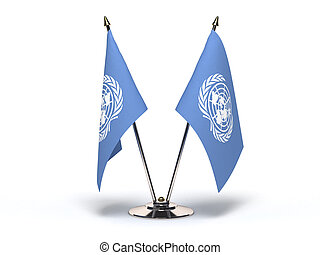 Miniature Flag of UN