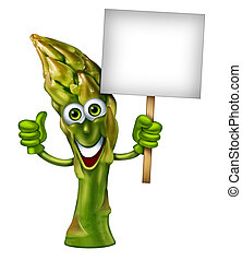 Asparagus Character - Asparagus character as a green healthy...
