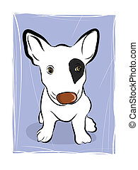 an illustration of a puppy