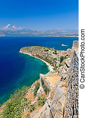 Palamidi castle and Nafplion city