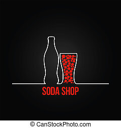 soda bottle splash design menu backgraund 8 eps version