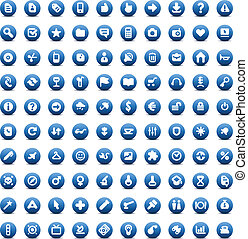 Set of 100 icons for Web - 100 web, business, media and...