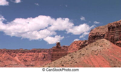 Capitol Reef National Park, Time Lapse - Chimney Rock,...