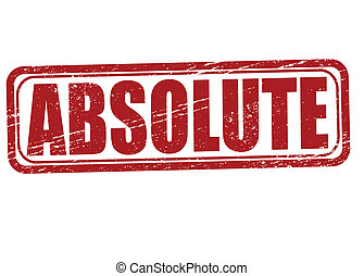 Absolute - Stamp with word absolute inside, vector...
