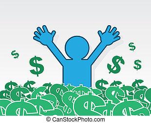 Figure Dollar Sign Pile