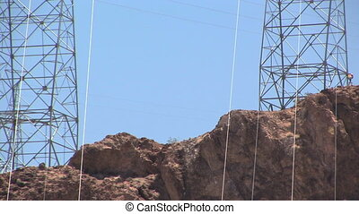Power Lines from the Hoover Dam