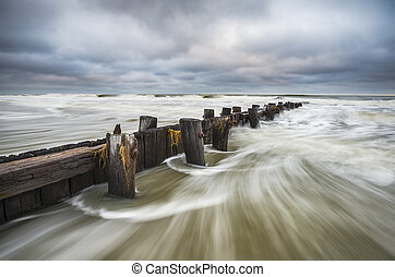 Folly Beach South Carolina Charleston SC Seascape landscape...