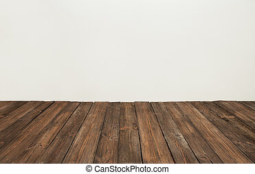 wooden floor, old wood plank, brown vintage board room...