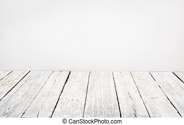 wooden floor, old wood plank, white vintage board room...