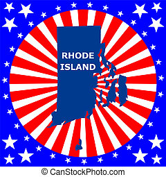 state of Rhode Island - map of the US state of Rhode Island...