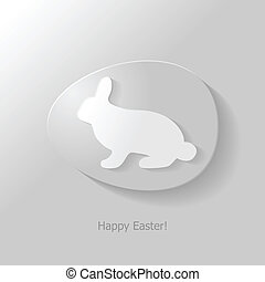 Bunny in egg icon