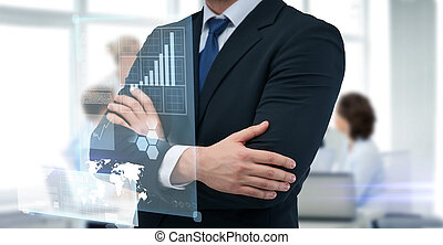 close up of buisnessman in suit and tie - business people...