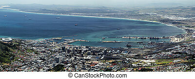 Cape Town - View on Cape Town, South Africa, from the top of...