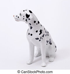 Dalmatian Dog ceramic figurine, isolated on white