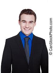 businessman smiling friendly