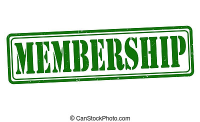 Membership stamp - Membership grunge rubber stamp on white,...