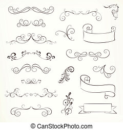 Vector Ornate Frames and Scroll Elements - Vector...