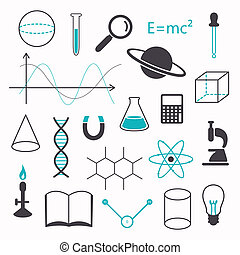 Vector Science Icons - Vector Illustration of Science Icons