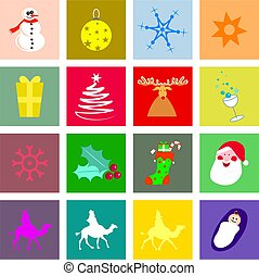 Christmas tiles - A collection of decorative Christmas tiles...