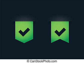 Ribbon icon set - Illustration of an isolated ribbon set on...