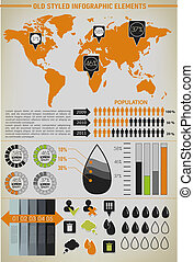 Modern elements of info graphics. World Map / Information...