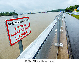 flood in 2013, mauthausen, austria - flood of 2013...