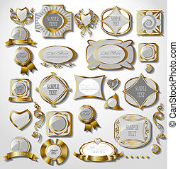 Retro white gold label - Retro gold label/can be used for...