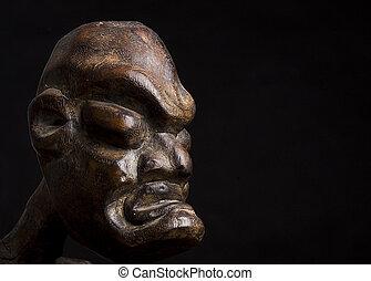 máscara, sobre, pretas, fundo, africano