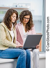 Female office workers - Young creative businesswomen team...