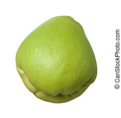 Chayote isolated on white with a clipping mask.