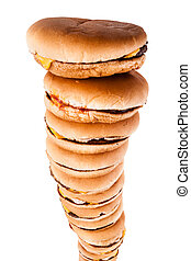 Isolated burger tower