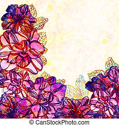 Vector floral background with flowers. EPS 10