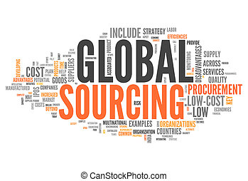 Word Cloud Global Sourcing - Word Cloud with Global Sourcing...