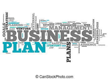 Word Cloud Business Plan - Word Cloud with Business Plan...
