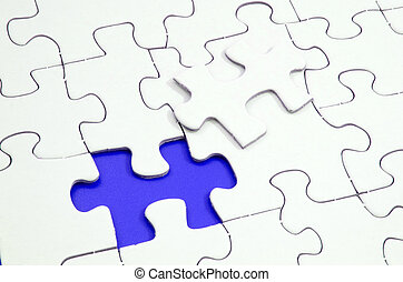 Missing Jigsaw Piece - Jigsaw puzzle with a missing piece